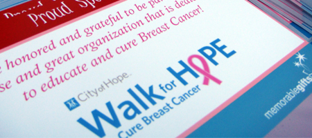 Walk for Hope to Cure breast Cancer