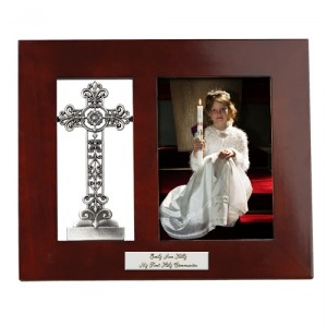 Personalized Pewter Cross Photo Frame