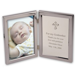 Personalized Silver Christening and Baptism Frame