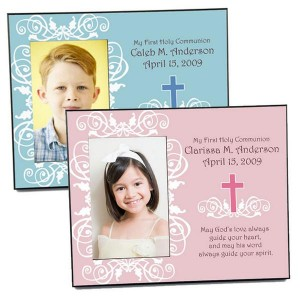 Personalized First Communion and Confirmation Picture Frame
