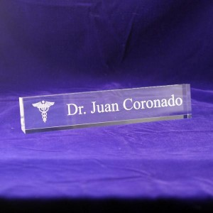 Medical Acrylic Desk Nameplate