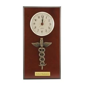 Medical Caduceus Wall Clock