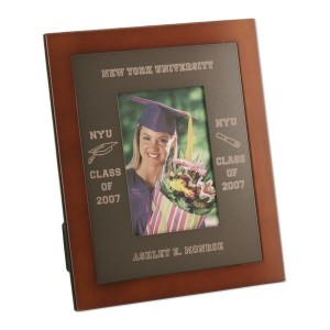 Elegant Russet Wood and Matte Metal Graduation Photo Frame