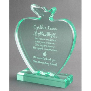 Jade Apple Teacher Award Plaque
