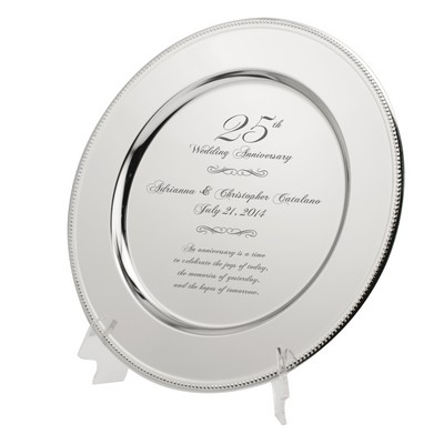 25th Anniversary Keepsake Plate