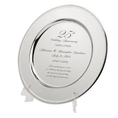 25th Anniversary Keepsake Plate