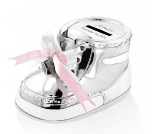 Baby Bootie Keepsake Money Bank