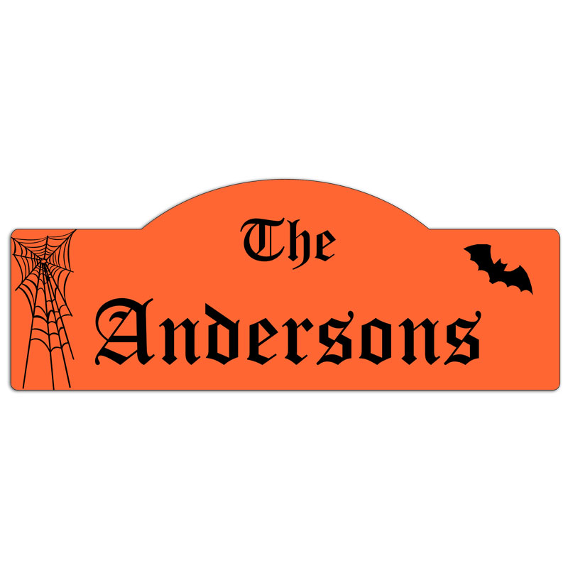 Personalized family sign name for halloween