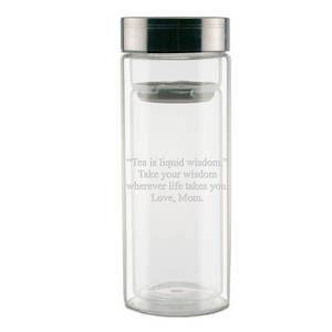 Personalized Dual Climate Glass Thermos