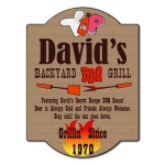 Personalized backyard grill sign
