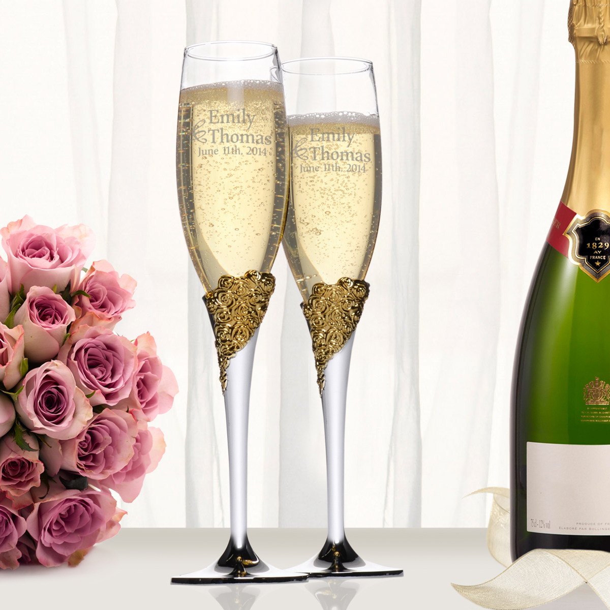 Personalized Wedding Gifts | Champagne Flutes