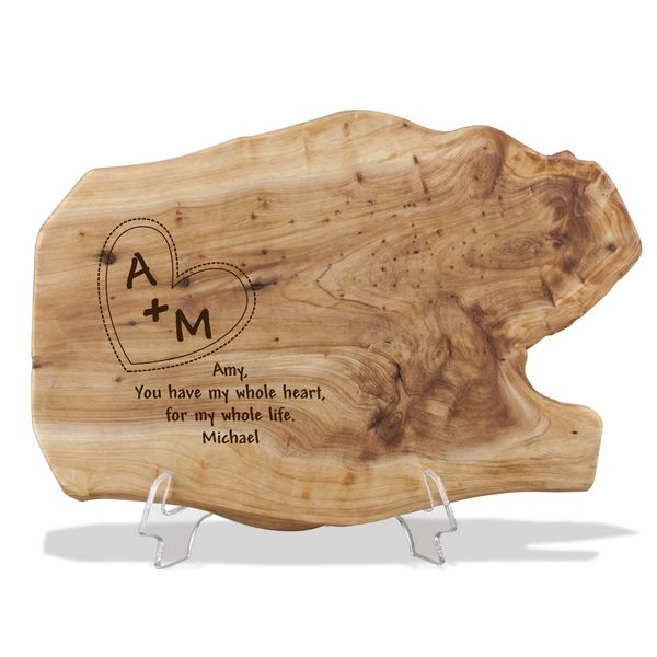 engraved wood root plaque for couples 9429 li memorable gifts blog
