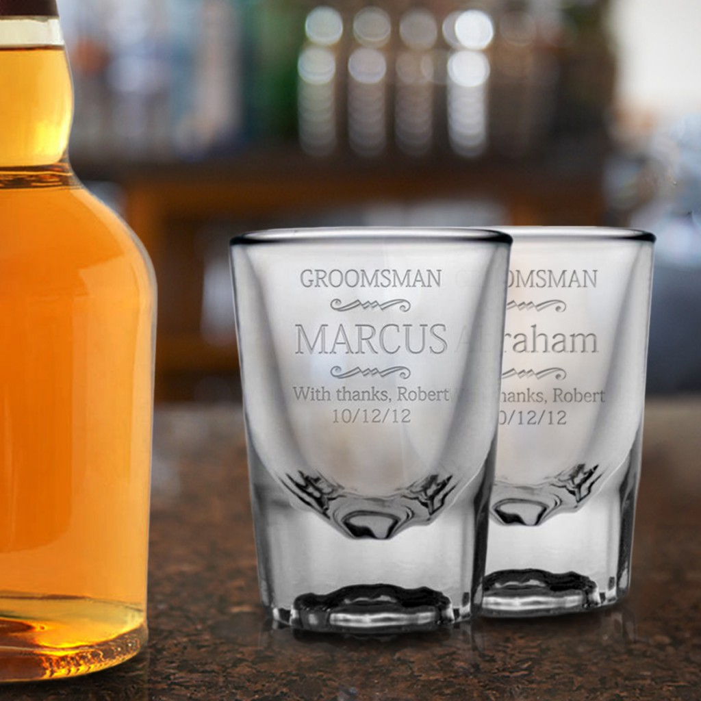 Personalized Groomsman Gifts | Shot Glasses