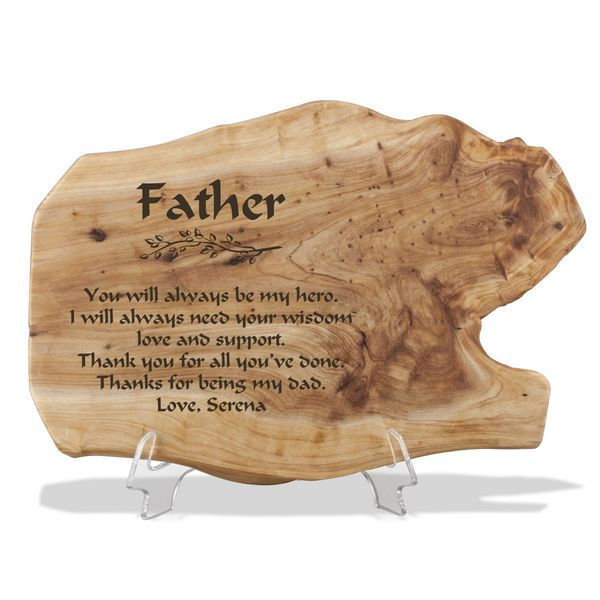 personalized fir wood plaque for dad 9427 li 1 memorable gifts