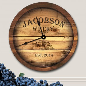Personalized-Winery-Wall-Clock