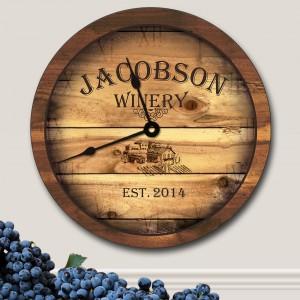 Personalized-Winery-Wall-Clock