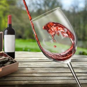 monogrammed wineglass