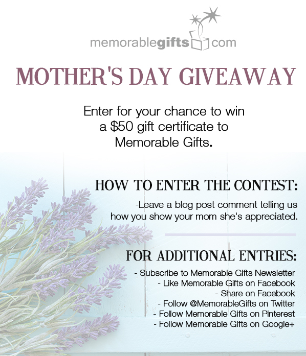 Mother's Day Giveaway - Memorable Gifts Blog | Personalized