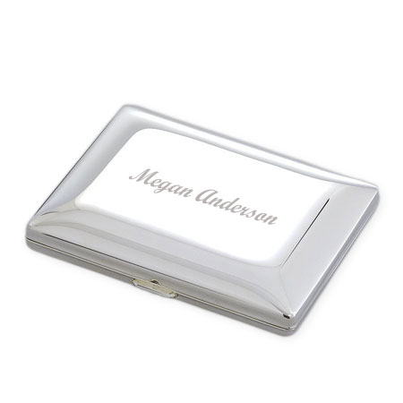 Sleek Compact Mirror with Pouch
