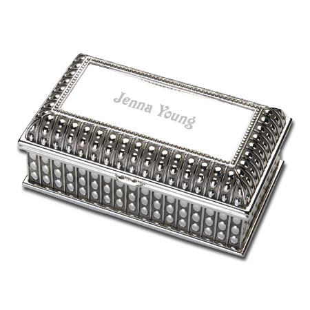 Egyptian Design Silver Jewelry Box