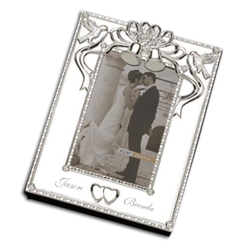 wedding bells silver wedding album and frame wedding gifts