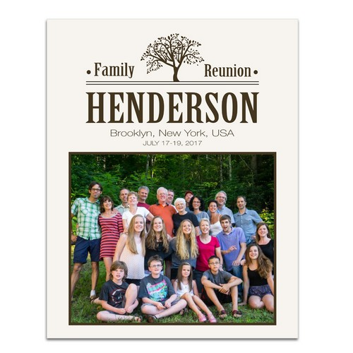 Personalized Family Reunion 11 x 14 Photo Print
