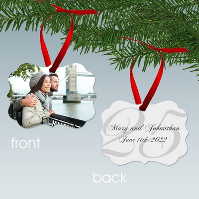 25th Anniversary Benelux Style Personalized Aluminum Ornament