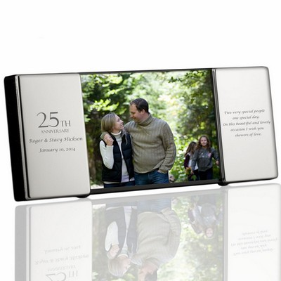 25th Anniversary Personalized Silver 4x6 Picture Frame
