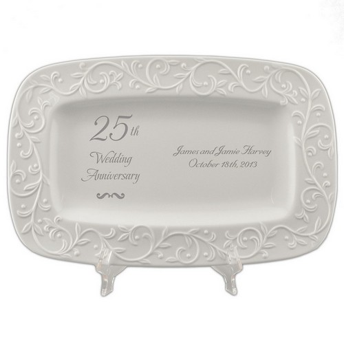 Appropriate Gift For 50th Wedding Anniversary: 25th Wedding Anniversary Lenox Carved Tray