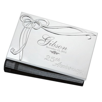 25th Wedding Anniversary Personalized Silver Plated 4x6 Photo Album