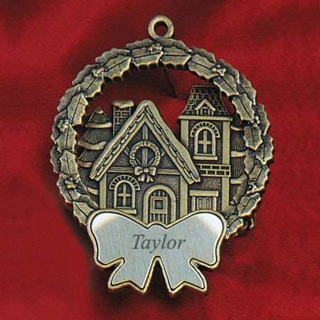 Victorian House Bronze Keepsake Ornament