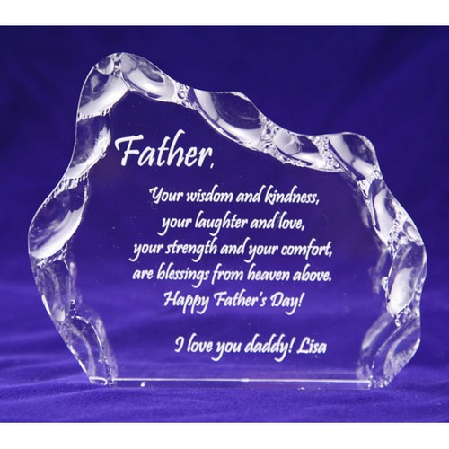Fathers Day Iceberg Plaque