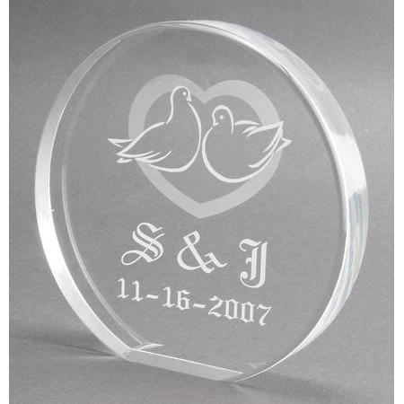 Monogram Love Birds Wedding Doves Cake Topper