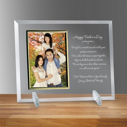 "Fathers Day Glass 5"" X 7"" Personalized Photo frame"
