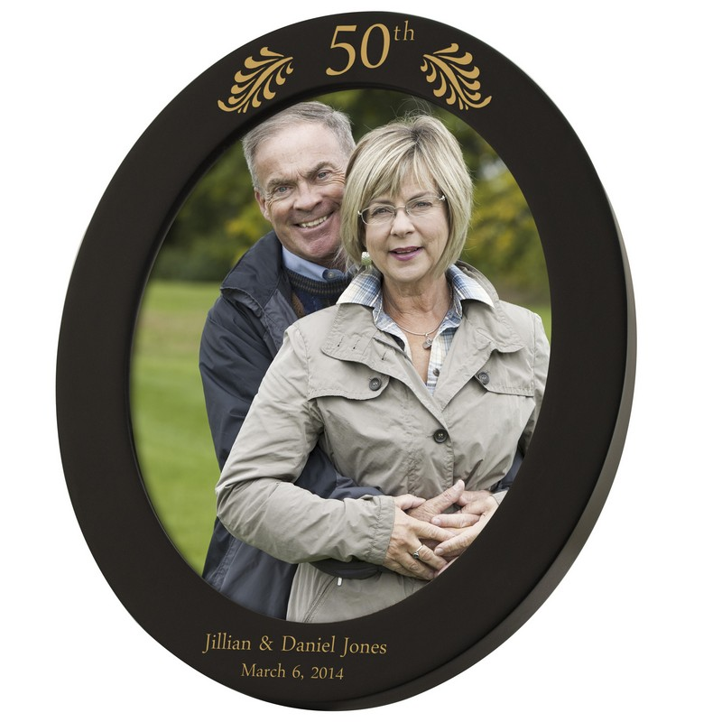 50th Anniversary Personalized 8x10 Black Oval Frame
