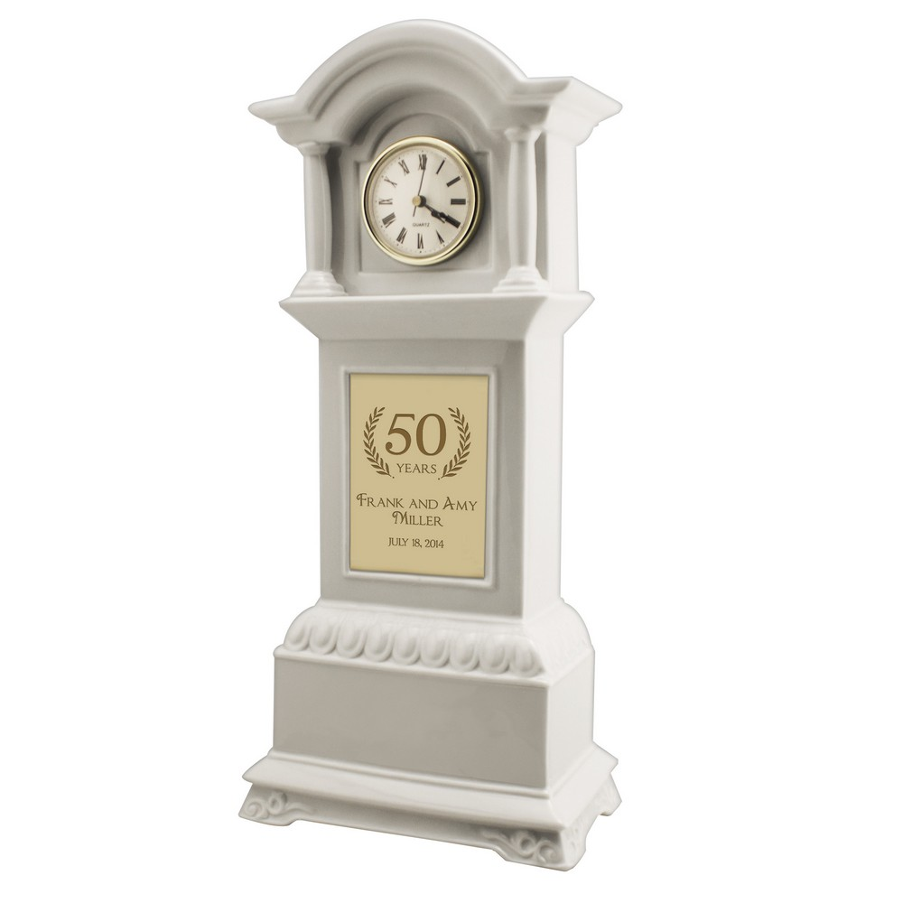 50th Anniversary Personalized Tall Grandfather Clock