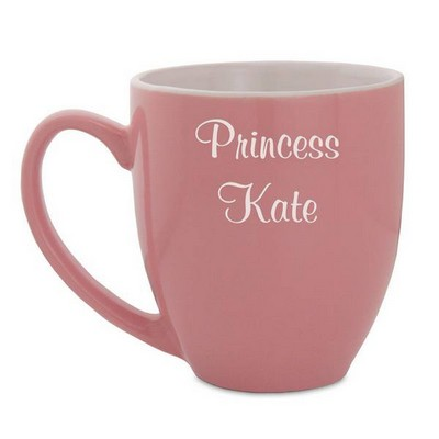 Personalized Pink Bistro Coffee Mug