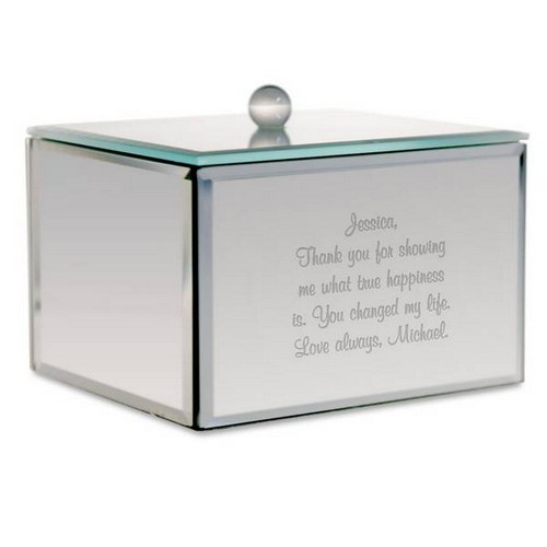Personalized Mirror Trinket Box