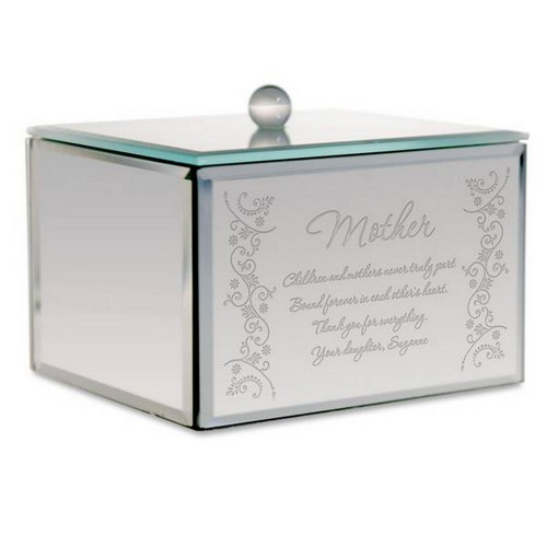 Personalized Mirror Trinket Box for Mom