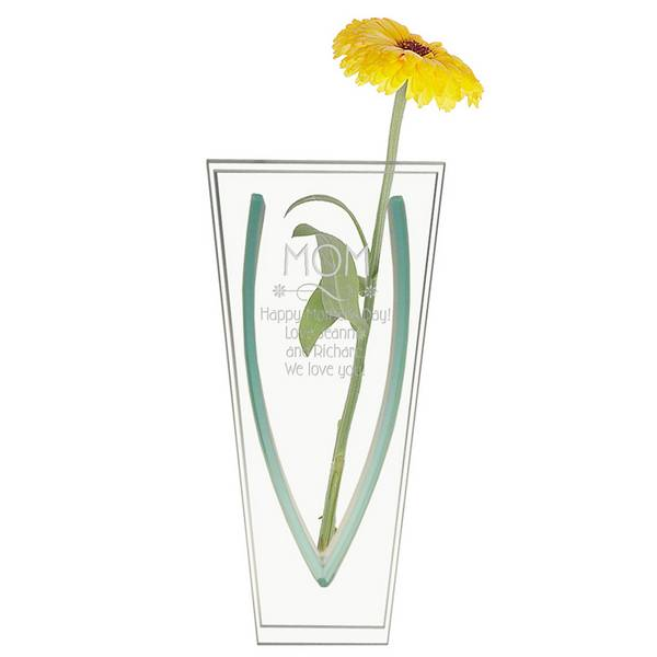 Personalized Glass Bud Vase For Mom Personalized Glass Vase
