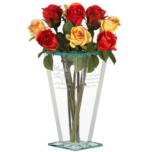 Mothers Love Personalized Glass Vase Personalized Flower Vase