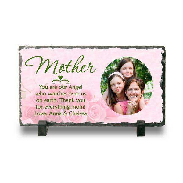 personalized photo slate plaque for mother mothers day plaque