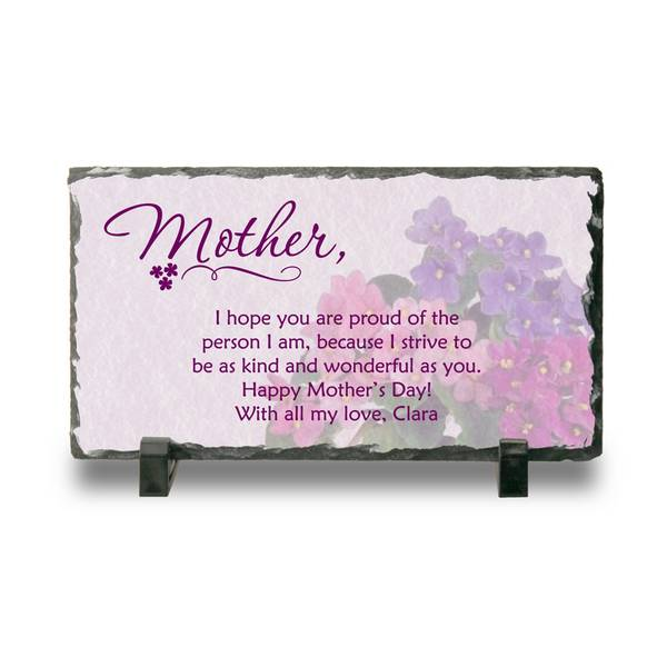 personalized slate plaque for mother mothers day plaque