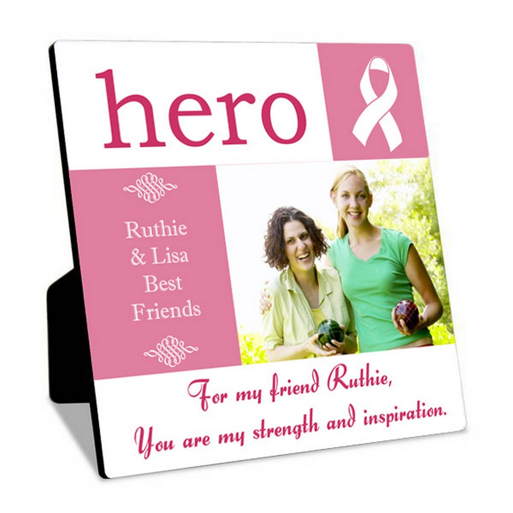 Breast Cancer Hero Personalized Photo
