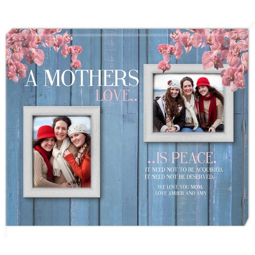 A Mothers Love Double Photo Wall Canvas