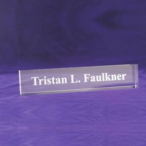 Contemporary Acrylic Desk Nameplate