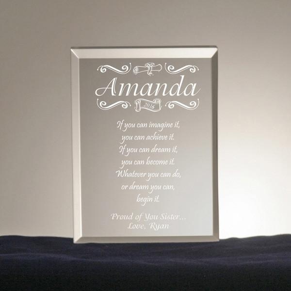 Congratulatory Personalized Graduation Gift Plaque