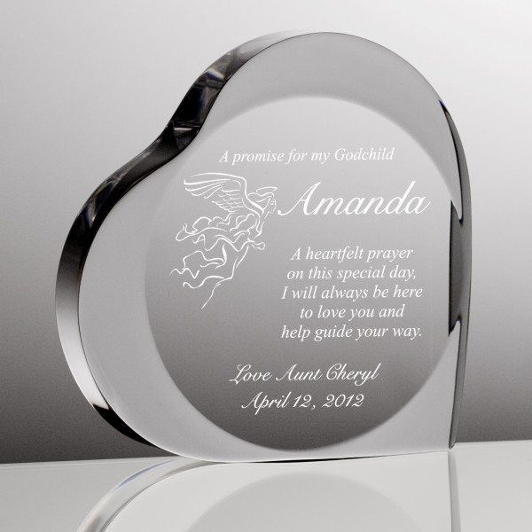 a promise to my godchild heart plaque