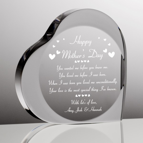 Mothers Day Personalized Heart Plaque