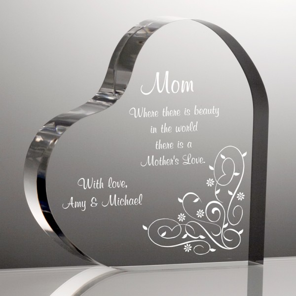 Personalized Heart Plaque For Mom Engraved Mother S Day